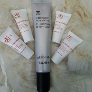 NWT Arbonne Sheer Glow Highlighter & Re9 Minis